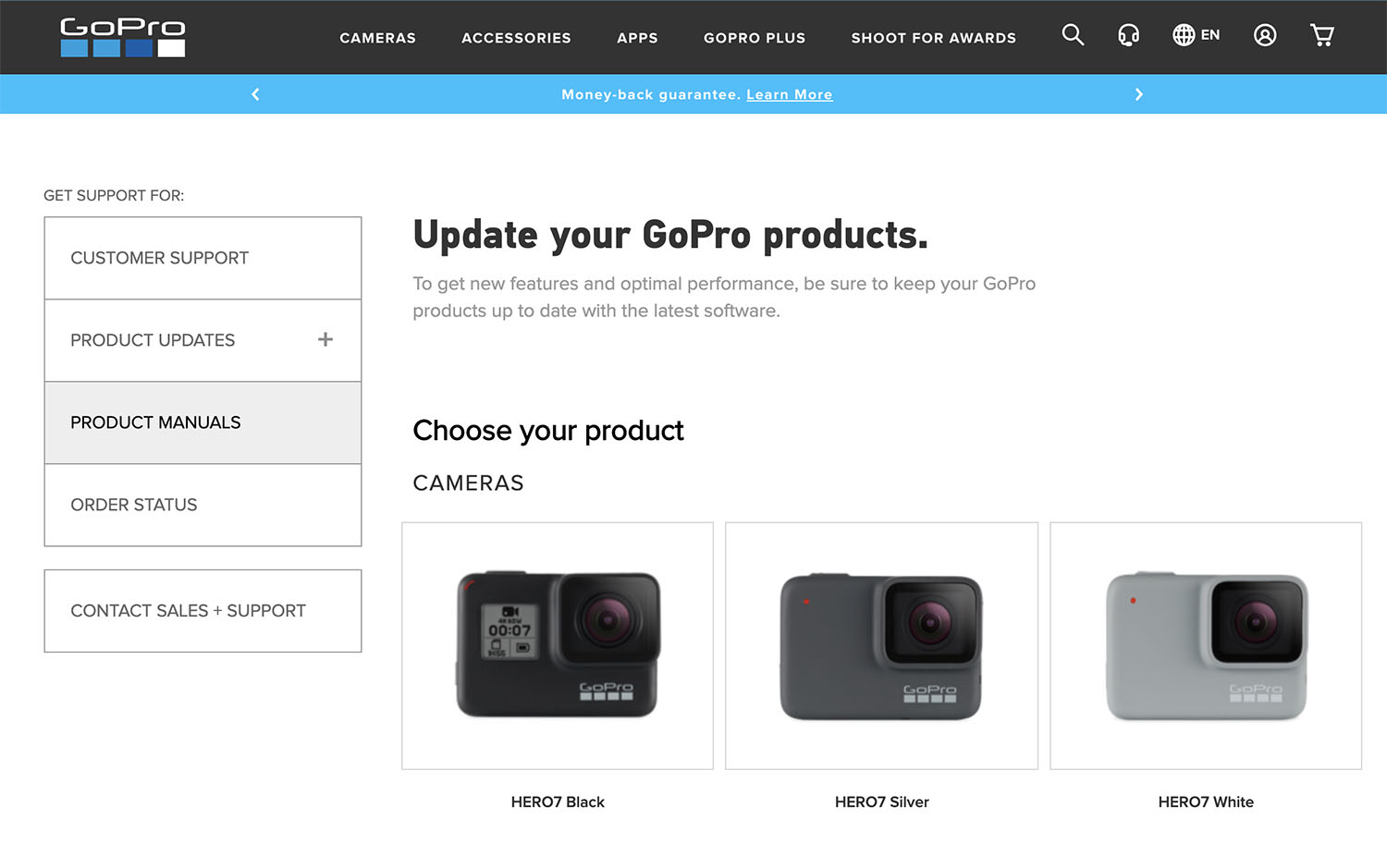 Select your HERO7 GoPro Product