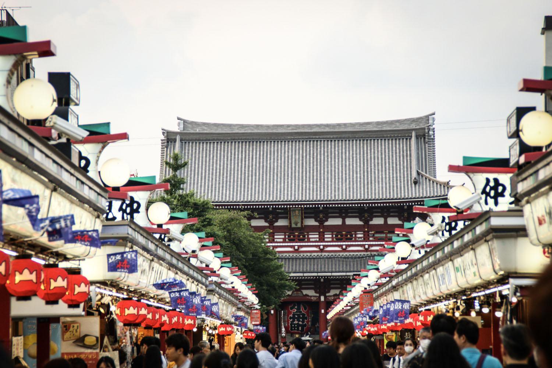 Sensoji Temple at daytime and around 10:30am